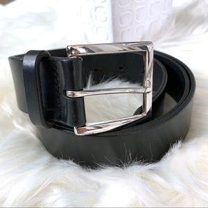 BANANA REPUBLIC Black Italian Leather Belt Size 34